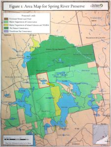 Nature Conservancy Land Map - Click to enlarge.